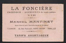 """SAINT-AMAND-MONTROND (18) ASSURANCE """"LA FONCIERE / Marcel MARTINET"""""""