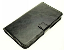 Black Genuine Leather Wallet Case Cover for Samsung Galaxy Note 2 LTE 4g
