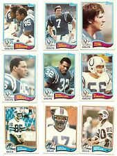 1982 Topps Football you pick commons 12 picks for $2.00 N M cond. and better