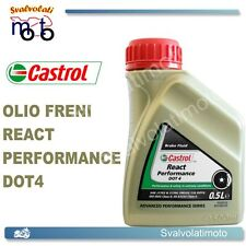 OLIO FRENI CASTROL REACT PERFORMANCE DOT4 0,5 LT PER SCOOTER BUELL