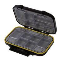 s Storage Case Fly Fishing Lure Spoon Hook Bait Tackle Box Waterproof Black P9B7