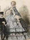 JOURNAL DES DEMOISELLES April 1858 - Bonnet Miss Lilie, Marie-Antoinette fichu
