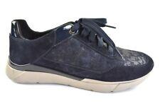 Geox Damen Sneaker Leder Navy Gr.37 Wechselbare Einlegesohle