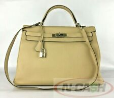 BIGSALE! AUTHENTIC HERMES Kelly 35 Retourne Trench Clemence Entrupy Verified Bag