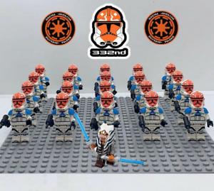 21Pcs Ahsoka Tano 332nd Star Wars Clone Trooper Minifigures For Lego Moc Toys