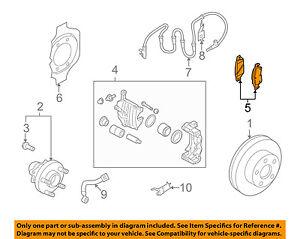 Infiniti NISSAN OEM 08-13 G37 Brake-Front Pads D1060JK00B
