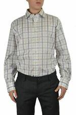 Etro Men's Multicolor Checkered Long Sleeve Dress Shirt Size US 17 IT 43