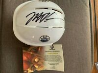 Mark Messier Autographed Mini Helmet Edmonton Oilers COA