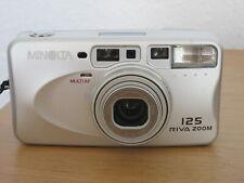 Minolta Riva Zoom 125 35mm Compact Film Camera + Case - Good Condition - Working