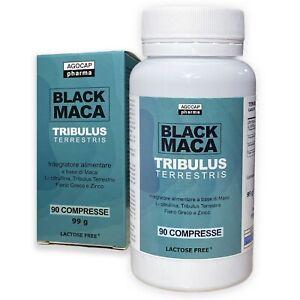BLACK MACA PERUVIANA e Tribulus ENERGIZZANTE E STIMOLANTE - 90 cpr da 1100MG
