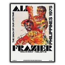 ALI VS FRAZIER Thrilla In Manila Philippines METAL SIGN PLAQUE Advert poster
