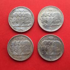 """100 FRANCS 1948 BELGIQUE """" QUATRE ROIS """" - LOT de 4 ANNEES DIFFERENTES en ARGENT"""