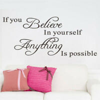1 X DIY Removable Art Vinyl Quote Wall Sticker Decal Mural Home Room Decor New