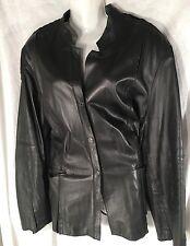 Jones New York Women's Black Leather Jacket Size 24W