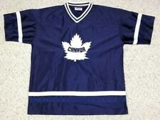 Canada National Team Adult Blue Hockey Jersey Size L Maple Leaf