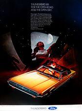 Vintage 1969 Ford Thunderbird sunroof car advertisement print ad art