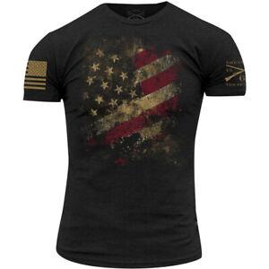 Grunt Style Worn Flag 2.0 T-Shirt - Black