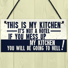 Vintage This Is My Kitchen Funny Plaque Shabby Chic Kitchen Wall Retro Sign Gift