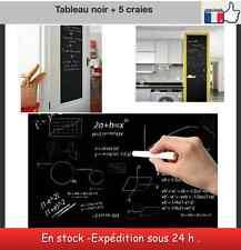 Tableau noir adhésif rouleau 2 m x 45 cm + 5 craies chambre enfant cuisine