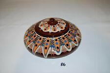 C86 Ancienne pot en terre cuite - décor coloré