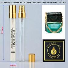 10ml Glass Jumbo SAMPLE Decadence EDP by Marc Jacobs Perfume*180 sprays