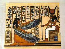 Ancient Egyptian Winged Goddess Isis for protection Papyrus Painting Egypt