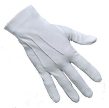 Freemason White Masonic Services Ceremonial Gloves Sizes Available XS to XXL