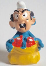 VINTAGE SMURFS JOKEY IN GARGAMEL MASK SCHLEICH PVC FIGURE MINI BLUE COSPLAY NM!!