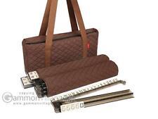 American Mah Jongg Set - Ivory Tiles, Modern Pushers - Brown Soft Mahjong Bag