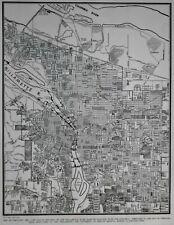 1879 Oregon Map Or Springfield Lincoln City Newport BIG