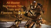Destiny 2 All 8 Master Nightmare Hunt Time Trials And Flawless Xbox, PS4, or PC!