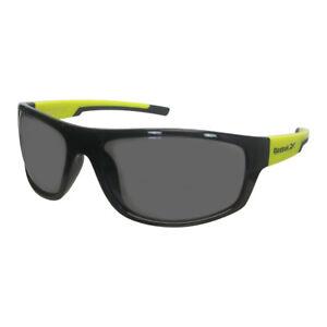 Reebok Golf Men's RBOP 2103 Classic Sport Sunglasses, Blk/Ylw Frame/Smoke Lens