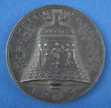 Medaille Eisenguss Eisen 1917 Grosshans Glockenopfer für eingeschm. Glocken