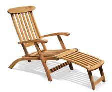 Classic Teak Steamer Chair Wooden Garden Recliner/Sun Lounger – Jati