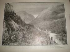 In treno a Klondike skagway Valley da Dead Horse Trail 1899 old print Canada