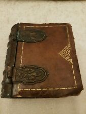 Antique Leather And Metal Box Book