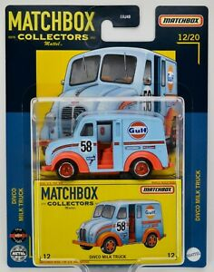 2021 Matchbox Collectors #12 Divco Milk Truck GULF BLUE / FIRESTONE / KONI / MOC