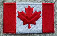 CANADA FLAG PATCH Embroidered Badge Iron or Sew on 3.8cm x 6cm Canadian Maple