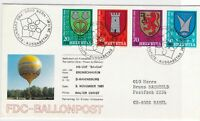 switzerland balloon post stamps cover  ref 7673