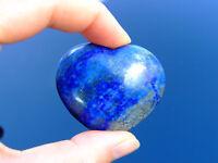 Lapis Lazuli Carved Heart Natural Gemstone Crystal Reiki Chakra Healing Stone