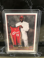 Lebron James 2003 Topps #1 Draft Pick Rookie RC RP card #221 Reprint