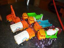 Ancien Camion Plastique DEL Jouet de Bazar Penny toy Benne Citerne Toupie Béton