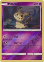 Mimikyu 58/145 SM Guardians Rising Reverse Holo Rare Pokemon Card MINT TCG