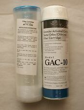 (1) One Pentek GAC-10 Carbon Water Filter Cartridge (1) Aries AF-10-3300 Filter
