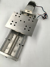 """CNC Z axis Slide 8"""" travel Anti-Backlash and supported linear bearings rails"""