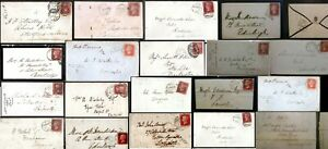 GB 1840 - 1879 1d Red & QV Covers Postal History Postmarks Locations + Imperf