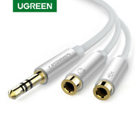 Ugreen Sdoppiatore Microfono Cuffie Adattatore Audio Jack 3.5mm 1M 2F per Tablet