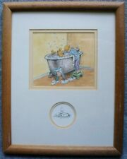 Classic Winnie the Pooh in Bathtub Hanging Wall Decor Wood Frame