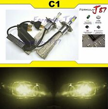 LED Kit C1 60W 9003 HB2 H4 3000K Yellow HEAD LIGHT STOCK FIT LAMP JDM COLOR