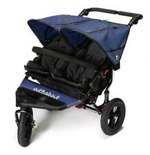 out N About Nipper 360 V4 Double Buggy Raincover Plus 2 X Footmuffs Royal Blue